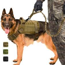 K9 No Pull Military Dog Vest and Leash Molle Tactical Harness Training Large