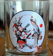 Saturday Evening Post Norman Rockwell OFF DUTY CLOWN Glass Tumbler