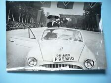 PHOTO ANNÉES 1950  RENAULT DANS LE MONDE ESPAGNE MADRID CONCOURS D'ELEGANCE