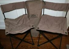 Ford Explorer Chairs Camp Folding Brown with Bag LOT of 2 RARE HTF FREE SHIPPING