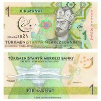 Turkmenistan 1 Manat 2017 P-36 Prefix AB Commemorative Banknotes UNC