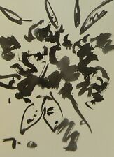 JOSE TRUJILLO ABSTRACT EXPRESSIONISM INK WASH MINIMALIST FLOWERS DECOR COA