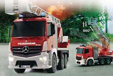 Remote Control Mercedes Fire Engine Ladder Truck Sound Lights 4WD 2.4 GHz 1:20