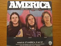 "AMERICA I Need You 1972 FRENCH PRESSING 7"" VINYL SINGLE IN PICTURE SLEEVE WB."