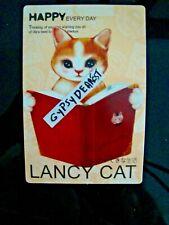 Kitten Card Big Eyes Cat Reads Book Happy Everyday Think Of U Lifes Best Always