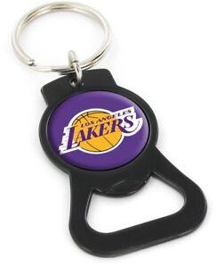 LOS ANGELES LAKERS - BOTTLE OPENER KEYCHAIN - BRAND NEW - NBA-BK-702-25-BK