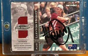 Lleyton Hewitt Rookie /100 Memorabilia Auto - 2003 NetPro International Series