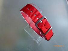 Uhrenarmband Nylon rot 14 mm NATO BAND Dornschließe Textil