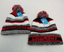 12 PC Lot Columbus Embroidered Beanie PomPom Toboggan Winter Hats Stripes
