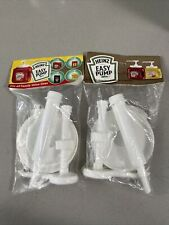 2 Lot Heinz Easy Pump All Family Value Sizes Condiment Ketchup Mustard Dispenser