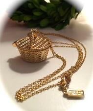 Beautiful *KATE SPADE* GOLD PICNIC BASKET LOCKET NECKLACE! EUC! A RARE FIND! 💕