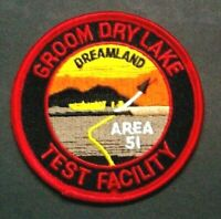 Independence Day Area 51 Groom Dry Lake Embroidered Patch -new