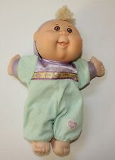 "Cabbage Patch Kid Doll Play Along 11"" 2005 Preemie Blonde Curly Hair Brown Eyes"