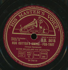GLENN MILLER 78 TOURS RPM UK RUG CUTTER'S SWING