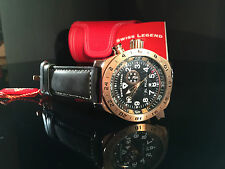 Swiss Legend Men's  Pilot Chronograph Black Dial Rose Gold AWESOME WATCH!!