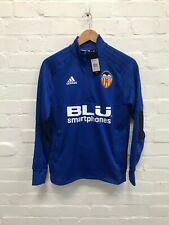 Valencia CF adidas Kids 1/4 Zip Football Training Top Jacket - Blue - New