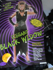 5 Piece Elegant Black Widow Halloween Costume~Women's Sizes 4-14