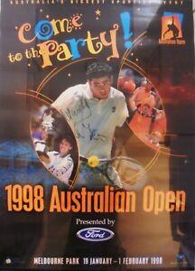 1998 AUSTRALIAN OPEN POSTER SIGNED BY WINNER P KORDA & FINALIST M. RIOS