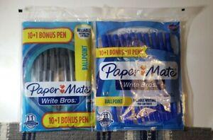 Paper Mate Ballpoint  Pens, Medium Point, 1.0 mm, 10 black 10 Blue