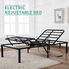 Twin Metal Mesh Adjustable Electric Bed Frame Head Leg Elevation Remote Control