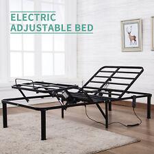 Twin XL Metal Bed Frame Electric Adjustable Head Leg Elevation Remote Control