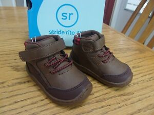 Stride Rite 360 Leopold Brown Boys Boots Shoes US size 4 Toddler EUR 20 UK 3 NWT