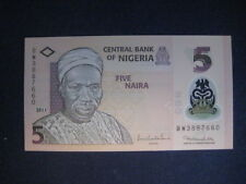 NIGERIA 2009 POLYMER ISSUE - 5 NAIRA P38b? DATED 2011 - 7 NUMBER SERIAL - UNC
