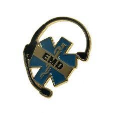 Emergency Medical Dispatcher EMD Rescue Operator 911 Headset Lapel Pin