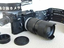 MINIATURE CANON F-1 F1 PLASTIC DISPLAY MODEL CAMERA + FD 35-70 MM F2.8 SSC