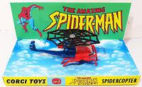 1978 Corgi Juniors 75 SPIDER-MAN SPIDERCOPTER Diecast Model & Custom Display [c]