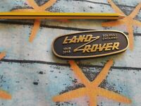 Land rover classic heritage metal badge series and defender 1948 - 2015