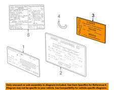 BMW OEM 96-02 Z3 Labels-Information or Warning Sticker 71212122014