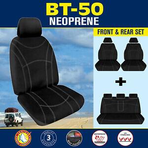 Mazda BT-50 UR 2015-2020 Dual Cab Neoprene FRONT & REAR Seat Covers Custom BT50