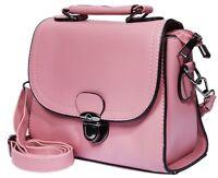 Handtasche Umhängetasche Tasche Schultertasche Rosa Schwarz Bag Kunstleder