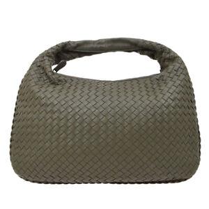 Bottega Veneta Intrecciato Hobo Hand Bag B0086237V Green Italy Leather 20216
