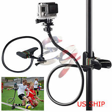 Long Adjustable Neck+ Jaws Flex Clamp Mount for Gopro Hero 2 3 3+ 4 Accessories
