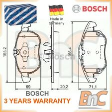 BOSCH FRONT DISC BRAKE PAD SET FOR FIAT CROMA 194 OEM 0986494073 77364224