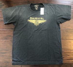 RRL Double RL Ralph Lauren Men's Vintage Black  Graphic Jersey  T-Shirt XL