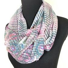Lavello Links Infinity Scarves Animal Print Pattern Solid Scarf Necklace Chain