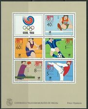Macao - Olympique Jeux d'été, Séoul Bloc 9 menthe 1988 Mi. 605