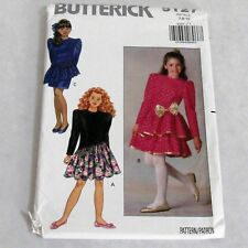 VESTIDO Butterick Sewing Pattern B3860 Girls/' Niñas Plus Top pantalones cortos Pantalones /&