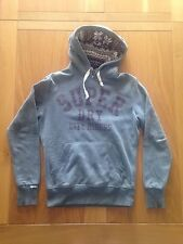 Men's New Grey Superdry Sunscorched Ski Hoodie