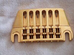 Vintage 1970's Ovation breadwinner deacon Viper  GOLD Guitar Bridge  schaller