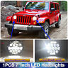 """Fit For Jeep Wrangler JK TJ LED Projector Headlight 7"""" 75W DRL HIGH LOW BEAM 1PC"""