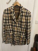 DAKS Signature Vintage GB Tweed Jacket Check Wool Country Heritage UK 16