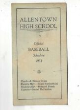 1931 Allentown High School (PA) Baseball Schedule