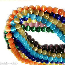 Wholesale 20/50/100Pcs Round Cats Eye Loose Beads Craft Jewelry Finding DIY 8mm