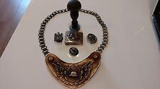 WW2 Metal German Gorget with Chain/Badges/Stamper/Metal Belt Buckle