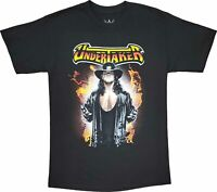 New Men's WWE The Undertaker Vintage Retro Black Wrestling T-Shirt Classic Tee