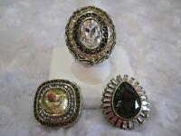 """HEIDI DAUS """"Enchante"""" (Topaz) Magnetic Pendant (Size 9) Ring Set (HSN-$159.95)"""